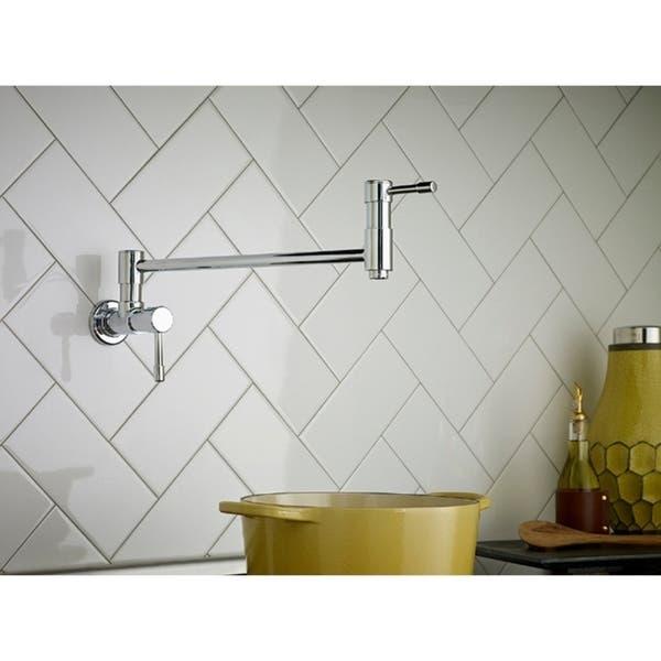 Danze Single Handle Pot Filler Melrose Wall Mount Lever Polished Chrome Faucet