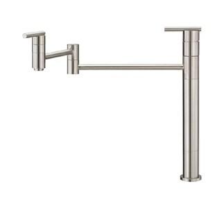 Danze Single-handle Pot Filler Parma Deck Mount Lever Handle Stainless Steel Faucet