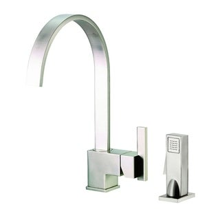 Danze Single-handle Kit Sirius Side Mount Handle with Spray Stainless Steel Faucet