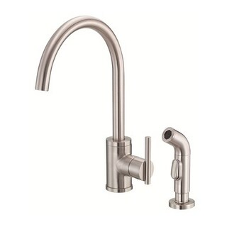 Danze Single-handle Kit Parma Side Mount Handle with Spray Stainless Steel Faucet