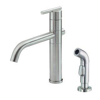 Danze Single-handle Kit Parma Lever Handle with Spray Stainless Steel Faucet