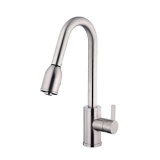 Danze Single-handle Kit Amalfi with Pull-down Spout with Optional Deck Plate Stainless Steel Faucet