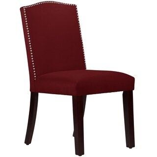 Made to Order Nail Button Arched Dining Chair in Velvet Rouge