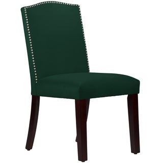 Made to Order Nail Button Arched Dining Chair in Velvet Emerald