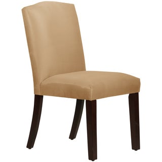 Skyline Furniture Arched Dining Chair in Micro-Suede Saddle