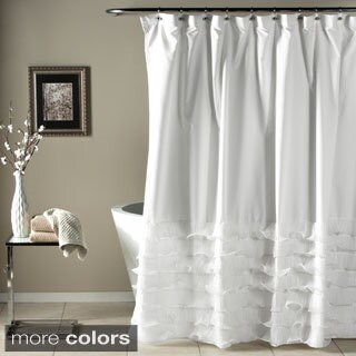 Lush Decor Avery Ruffled Shower Curtain