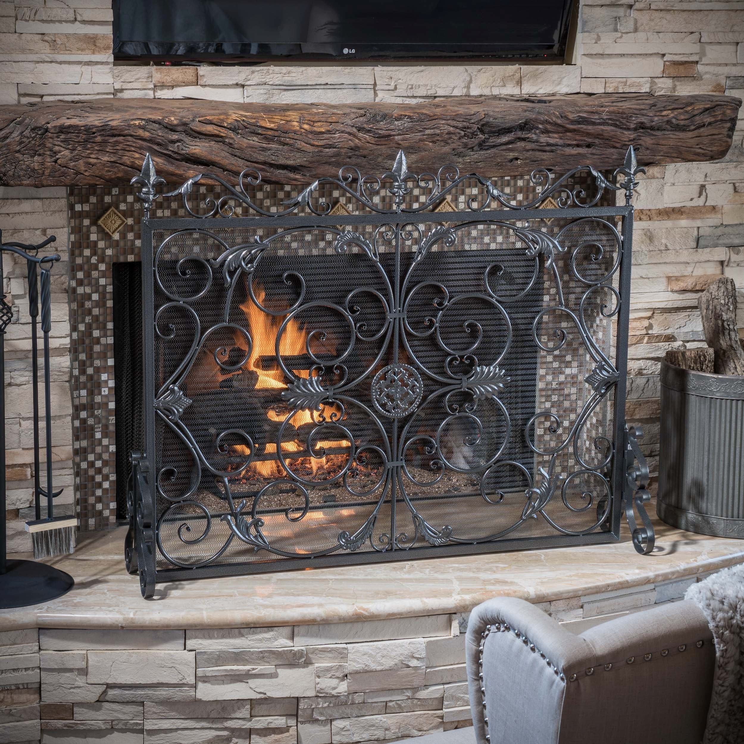 diverse with decoration cool bronze tall ron metal screens design shapes fireplace home classic and screen depot