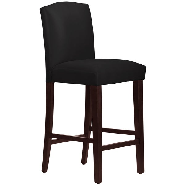 Shop Skyline Furniture Arched Barstool In Micro Suede