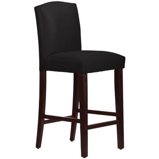 Skyline Furniture Arched Barstool in Micro-Suede Black