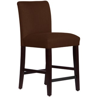 Skyline Furniture Uptown Counter Stool in Linen Chocolate