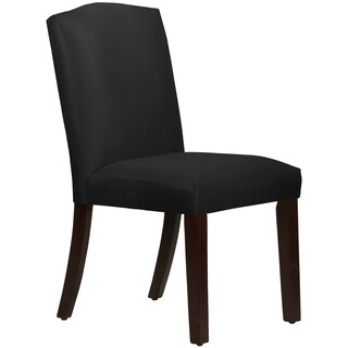 Skyline Furniture Arched Dining Chair in Micro-Suede Black