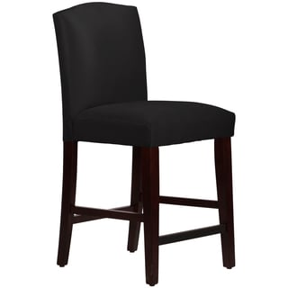 Skyline Furniture Arched Counter Stool in Micro-Suede Black