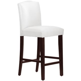 Skyline Furniture Arched Barstool in Micro-Suede White