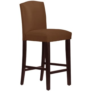 Skyline Furniture Arched Barstool in Micro-Suede Chocolate