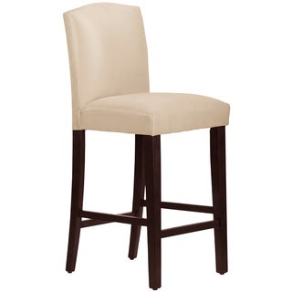 Skyline Furniture Arched Barstool in Micro-Suede Oatmeal