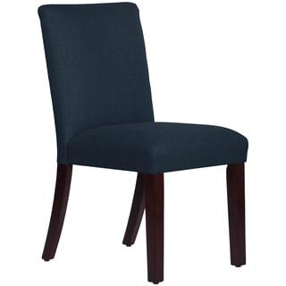 Skyline Furniture Uptown Dining Chair in Linen Navy