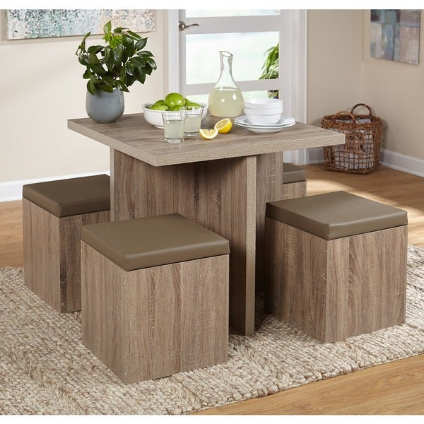 Shop Simple Living 5 Piece Baxter Dining Set With Storage