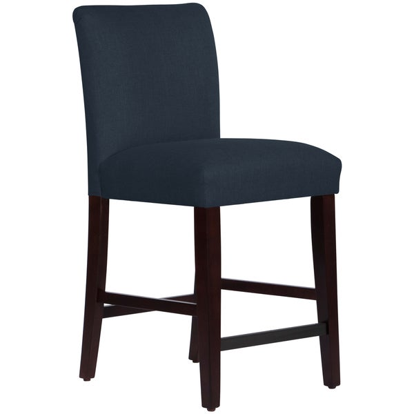 shop skyline furniture uptown counter stool in linen navy free