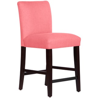 Skyline Furniture Uptown Counter Stool in Linen Coral