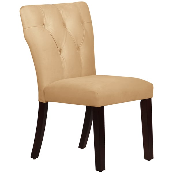 Merveilleux Skyline Furniture Tufted Hourglass Dining Chair In Velvet Buckwheat