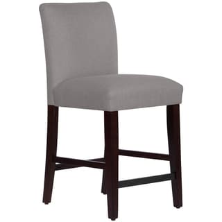 Skyline Furniture Uptown Counter Stool in Linen Grey