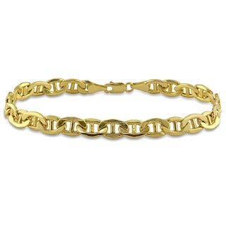 Miadora Men's 10k Yellow Gold Link Bracelet