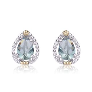 Collette Z Sterling Silver Blue Cubic Zirconia Pear Shape Earrings|https://ak1.ostkcdn.com/images/products/9570561/P16758800.jpg?impolicy=medium