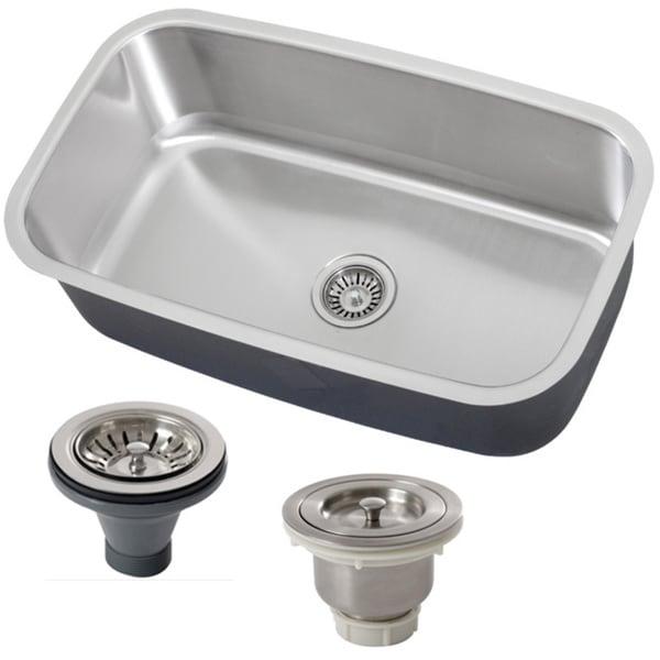 Phoenix 31.5-inch Stainless Steel 18 Gauge Undermount Single Bowl Kitchen Sink - Stainless Steel