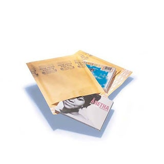 Kraft Bubble Mailers 7.25 x 9.75-inch Padded Mailing Envelopes DVD (Pack of 200)