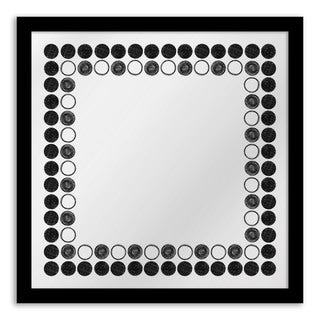 Gallery Direct Black Circles Mirror Art