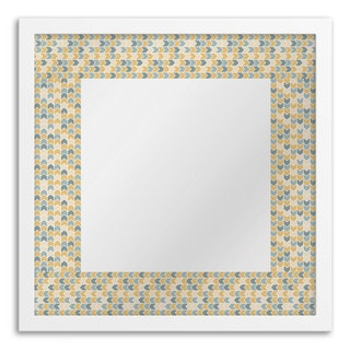 Gallery Direct Multi-colored Chevron Square Mirror Art