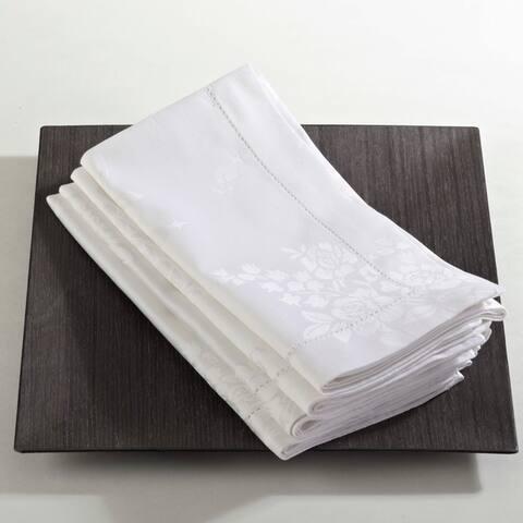 Rose Design Damask Table Linens