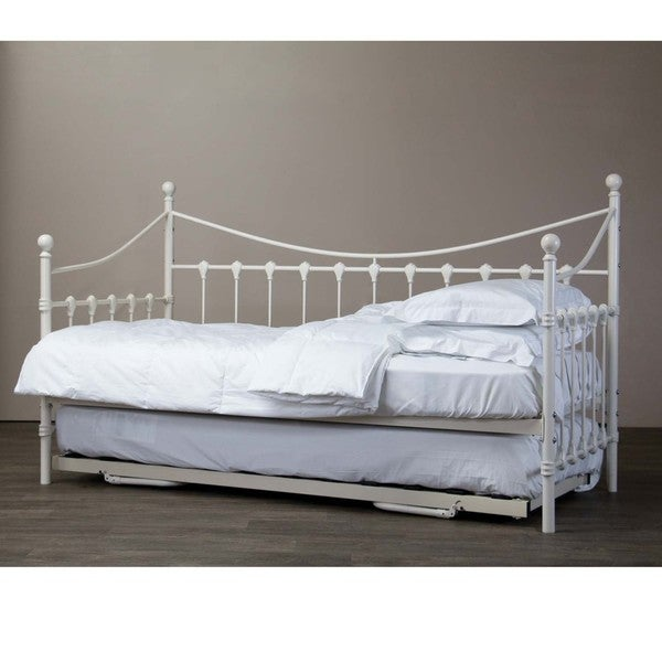 Baxton Studio Royale Antique White Iron Metal Daybed
