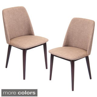 Tintori Mid-Century Modern Dining Chairs in Wood and Fabric (Set of 2) - Thumbnail 0