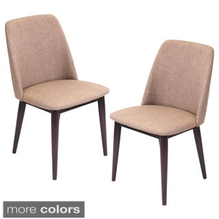 Tintori Mid-Century Modern Dining Chairs in Wood and Fabric (Set of 2)