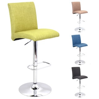 Tintori Fabric Adjustable Barstool