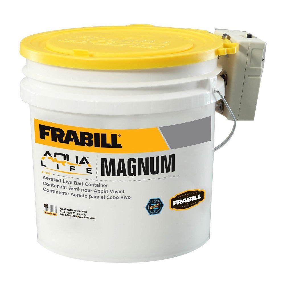 Frabill 4.25-gallon Magnum Bucket with Aerator (White)