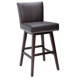 Sunpan '5West' Vintage Leather Swivel Barstool