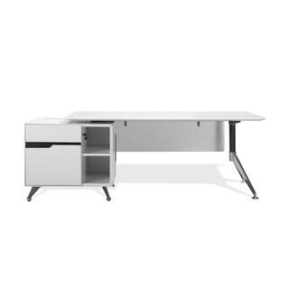 Executive White Lacquer Desk