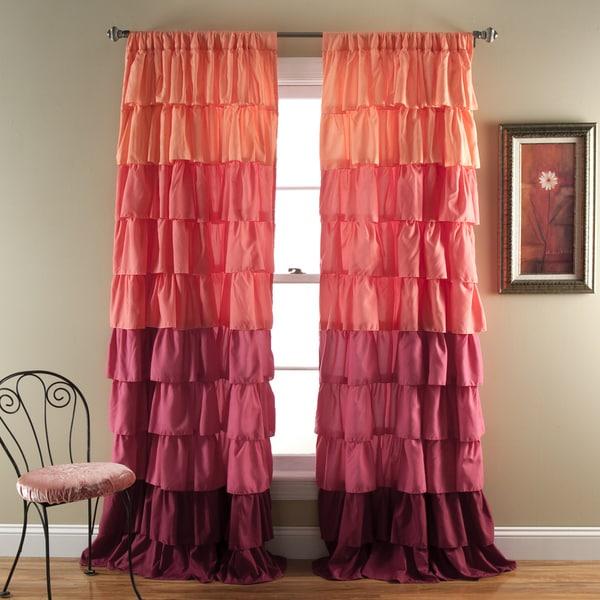 Lush decor ombre ruffle curtain panel 16759395 overstock com