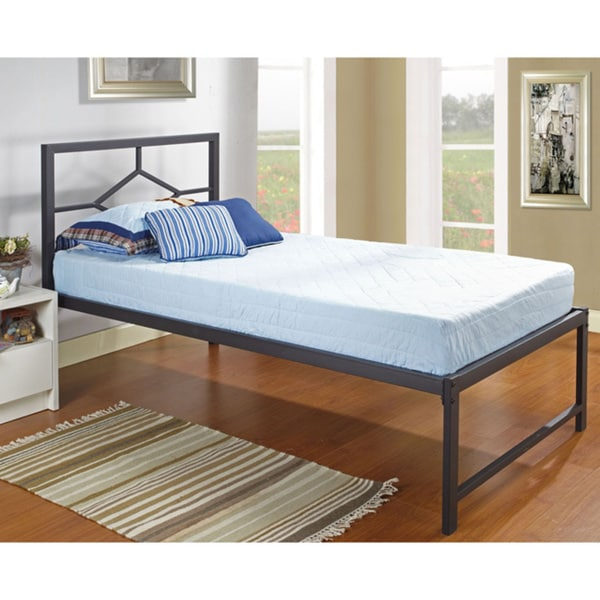 shop black metal twin size daybed on sale free shipping today overstock 9571239. Black Bedroom Furniture Sets. Home Design Ideas