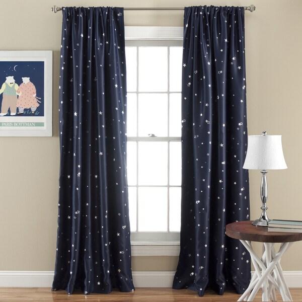 Lush Decor Star Room Darkening Window 84-inch Curtain Panel Pair