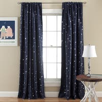 Lush Decor Star Room Darkening Window 84-inch Curtain Panel Pair