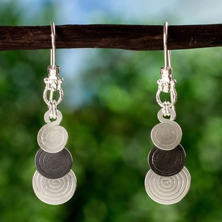 Handmade Silver 'Waterfall' Dangle Earrings (Mexico)