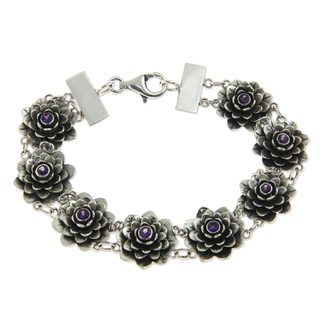 Handmade Sterling Silver 'Purity' Amethyst Bracelet (Indonesia)