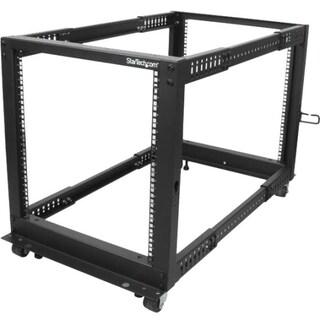 StarTech.com 12U Adjustable Depth Open Frame 4 Post Server Rack w/ Ca