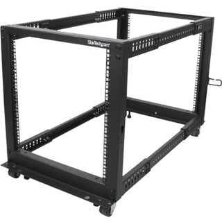 StarTech.com 12U Adjustable Depth Open Frame 4 Post Server Rack w/ Ca