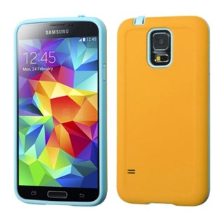 INSTEN Colorful Advanced Armor Phone Protector Cover CaseFor Samsung Galaxy S5 (Option: Yellow/Tropical Teal)