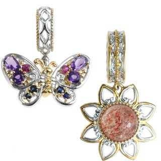 Michael Valitutti 'Flower' And 'Butterfly' Charm Set