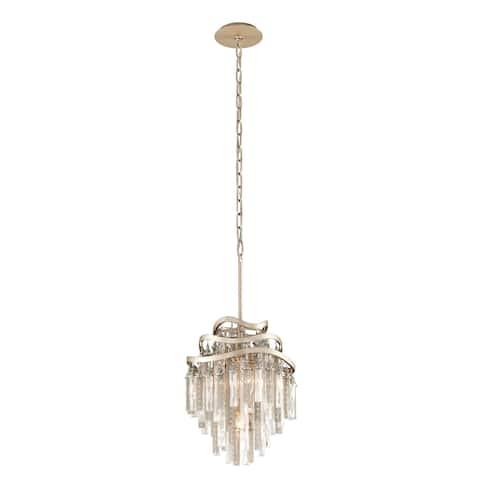 Corbett Lighting Chimera 3-light Tranquility Silver Leaf Pendant